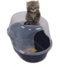 Favorite Jumbo Enclosed Litter Box Blue