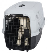 Favorite Airline Kennel Pet Carrier, Grey, L
