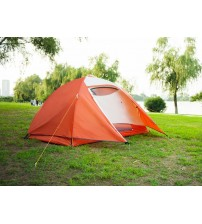 Semoo Waterproof, 3 Person, 2 Doors, 4-Season Aluminum Pole Lightweight Family Tent for Camping
