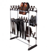 StorageManiac Shoe and Boot Organizer, Space Saving Shoe Rack for 24 Pairs of Shoes and 3 Pairs of Boots