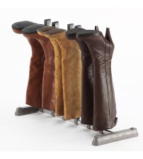 StorageManiac 3-Pair Boot Organizer, Standing Gray Boot Rack