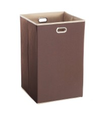 StorageManiac Foldable Handy Laundry Hamper, Collapsible Coffee Laundry Hamper with Stain-resistant Lining