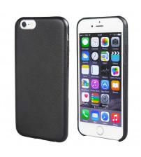 TechTent® iPhone 6s Ultra Thin Case Pure Color with Litchi Grain Designed for Apple iPhone 6s and iPhone 6 (4.7 inch), Black