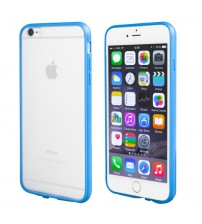 TechTent® iPhone 6s Plus Bumper Case with TPU frame and Matte PC back, Designed for Apple iPhone 6s Plus and iPhone 6 Plus(5.5 inch), Blue