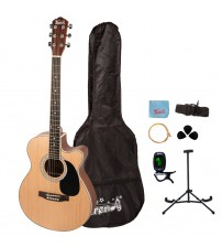 Trendy 40 Inch Spruce Top Dreadnought Acoustic Guitar with Spruce Top, Mahogany Back & Sides
