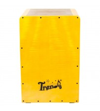 Trendy Punchy Bass Rubber Wood Cajon with Internal String System, Medium Size