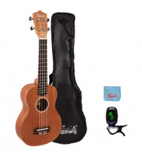Trendy 23 Inch Handcrafted Mahogany Top Concert Ukulele
