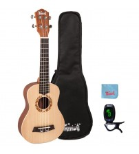 Trendy 23 Inch Handcrafted Solid Spruce Top Concert Ukulele