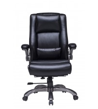 VIVA OFFICE High Back Bonded Leather Executive Chair with Extra Thick Padded Headrest and Lumbar Pad - Viva0422L1