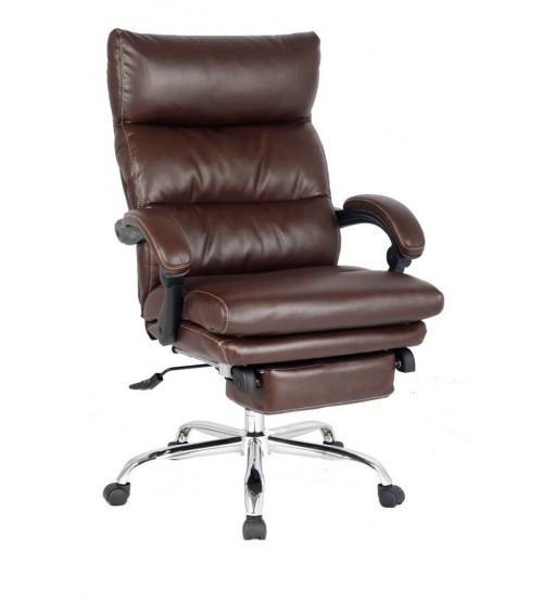 VIVA OFFICE® Latest High Back Office Chair, Ergonomic Bonded Leather Recliner Swivel Napping Chair with Double Thick Padded Headrest and Armrest - VIVA1102