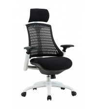 VIVA OFFICE High Back Ergonomic Nylon Base Office Chair with Adjustable Armrest, Black-Viva1508F1