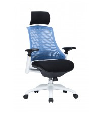 VIVA OFFICE Fashionable High Back Office Chair Executive Chair with Adjustable Armrest, Blue-Viva1508F2