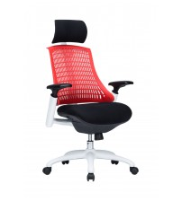 VIVA OFFICE Fashionable High Back Office Chair Executive Chair with Adjustable Armrest, Red-Viva1508F3