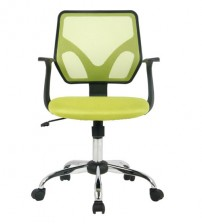 VIVA OFFICE®Mid-Back office chair, Mesh Computer chair, Multi-Colored (Black/Green) Task chair with Armrests-Viva2319F/Green