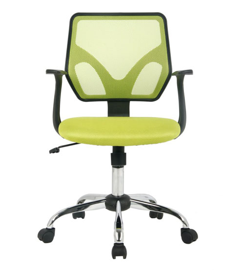 VIVA OFFICE® Mid-Back office chair, Mesh Computer chair, Multi-Colored (Black/Green) Task chair with Armrests-Viva2319F/Green