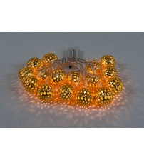 WED 7.4ft 16 LED Moroccan Ball Battery String Light, Fairy Moroccan Globe Ball String Light For Home, Patio, Garden, Holidays, Party, Christmas Trees, Indoor and Outdoor Decorations WEDJSQ16LWW