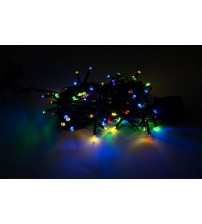 WED 33ft 100 Led String Lights, Multi-color, 8 Mode Waterproof Fairy String Lights for Christmas Indoor and Outdoor Decorative WEDLPSL100LMC8M