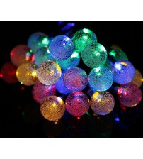 WED Solar Powered 20ft 40 LED Crystal Ball Waterproof Outdoor String Lights, Globe Fairy String Lights for Outside Garden, Yard, Home, Landscape, Halloween Christmas Party, Multi-color WEDQPQ40LMC