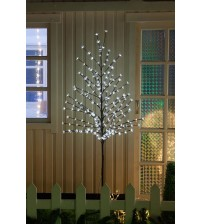 WED 6 Feet 208 LED Christmas Lighted Cherry Blossom Tree, White Lights with Flexible Branches for Christmas Tree, Indoor, Outdoor, Garden, Home, Wedding, Party, Holiday Decoration WEDYHS208LCW6FT