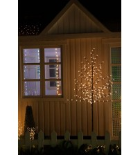 WED 6 Feet 208 LED Christmas Lighted Cherry Blossom Tree, Warm White Lights with Flexible Branches for Christmas Tree, Indoor, Outdoor, Garden, Home, Wedding, Party, Holiday Decoration WEDYHS208LWW6FT