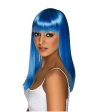 abHair Halloween & Costume Wig -  Long Bright Blue Colored Straight Wig