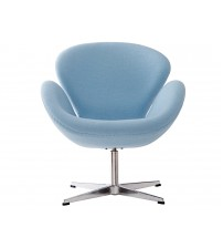 MCM Arne Jacobsen Style Swan Chair, Blue - HS027BF
