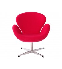 MCM Arne Jacobsen Style Swan Chair, Red - HS027RF