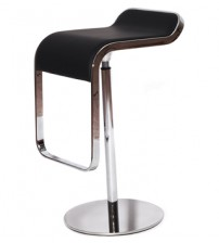 MCM LEM Style Adjustable Piston Bar Stool ,High Quality Italian Leather with Stainless Steel Frame