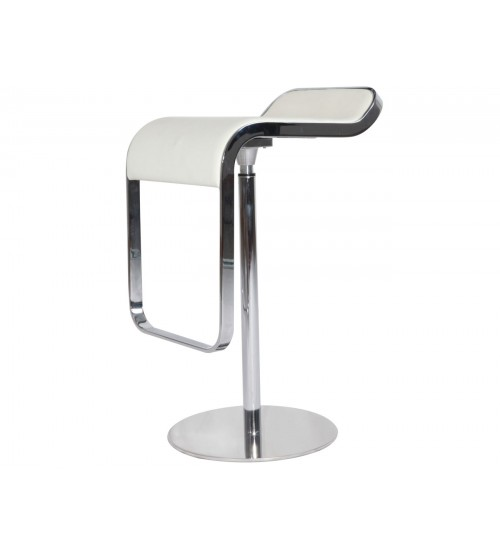 Mcm Lem Style Adjustable Piston Bar Stool White High